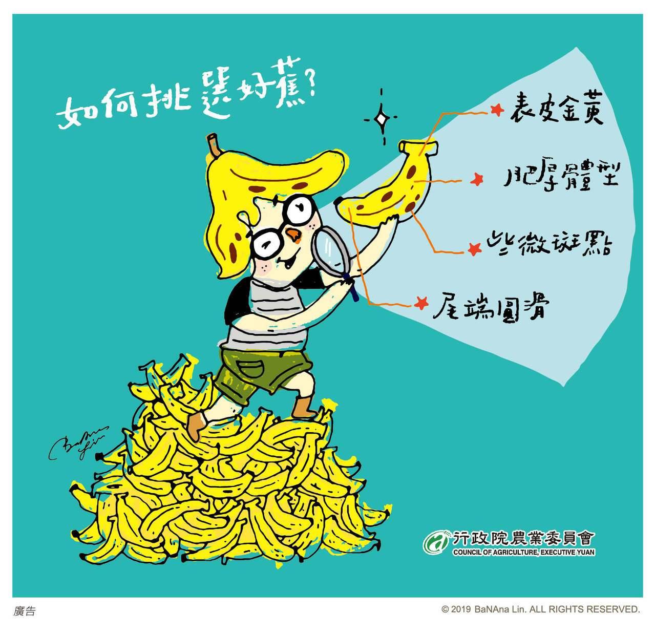 選購香蕉重點。圖/取自農委會臉書