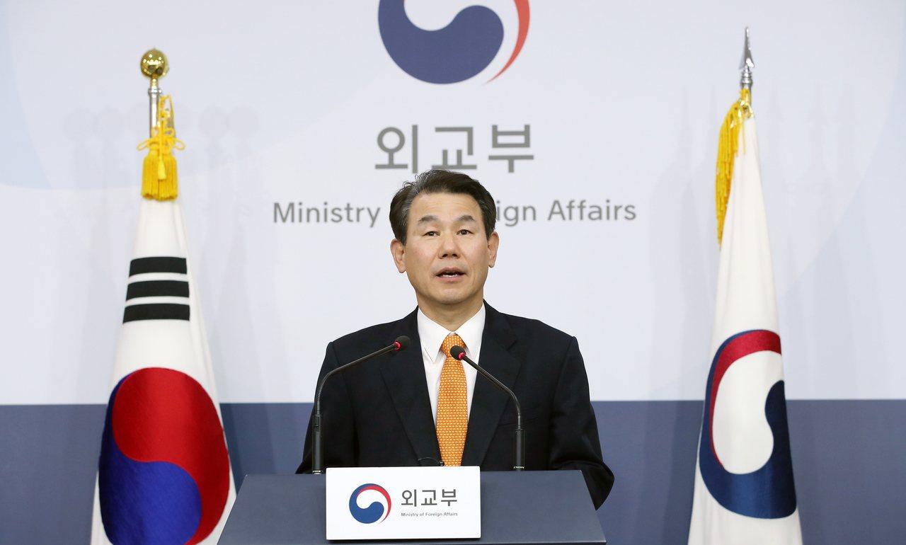 韓方談判代表鄭恩甫。歐新社