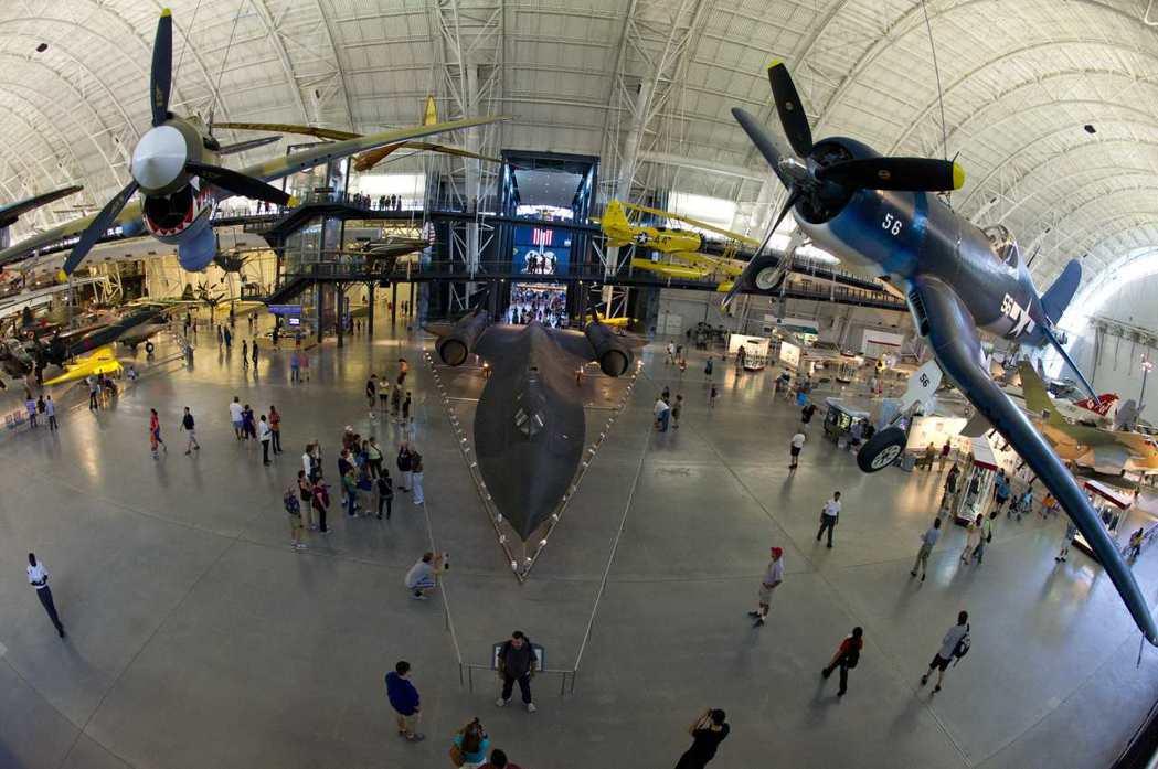 從上方看,SR-71的機身相當流線。 (法新社)
