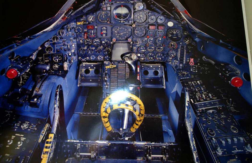 SR-71駕駛艙內部照片。 (法新社)