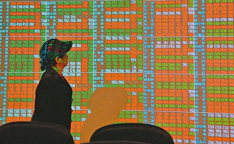 台股示意圖。 圖/聯合報系資料照片