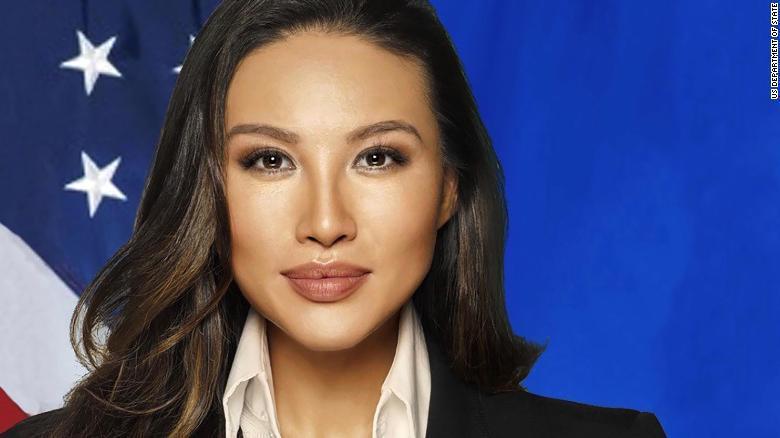 美國國務院高官張米娜被指學經歷造假,十八日辭職。圖/翻攝CNN