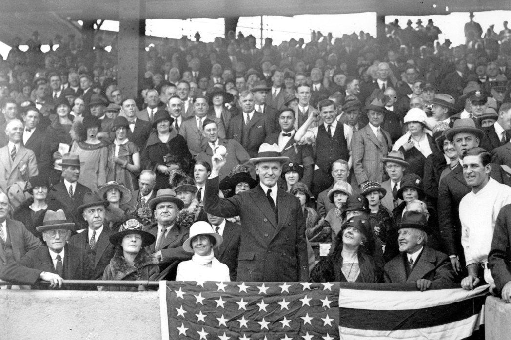美國故總統柯立芝(中)在麻州北安普頓當過兩年市長。 (美聯社)