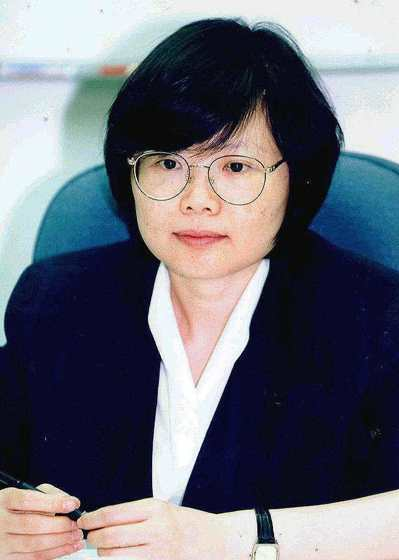 擔任政大教授時的蔡英文。 圖/聯合報系資料照片