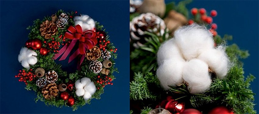 希望種子-聖誕花圈。 有肉Succulent & Gift/提供