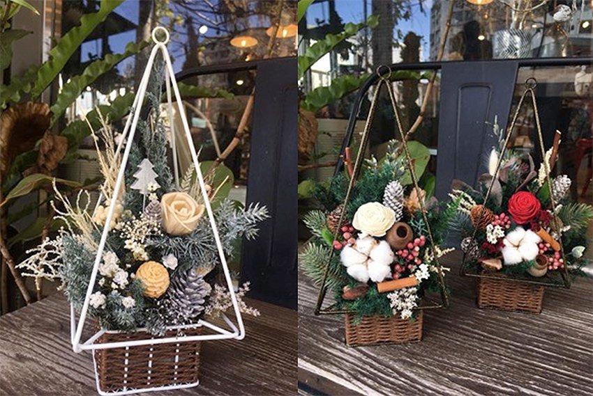 框景耶誕樹。 有肉Succulent & Gift/提供