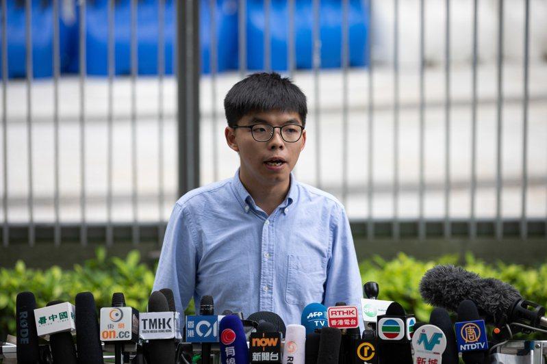 香港眾志祕書長黃之鋒。 歐新社