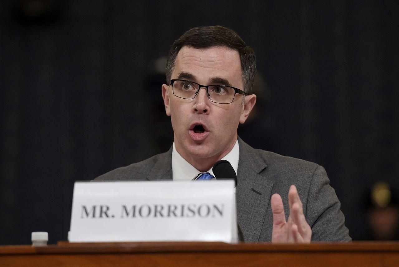 國安會官員莫里森出席作證。(Getty Images)