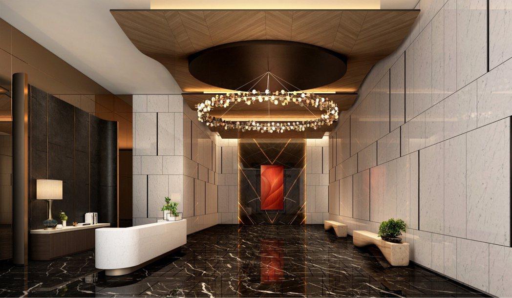 「白易居THE ARCH」公設由「常季設計」操刀。 圖片提供/清景麟地產