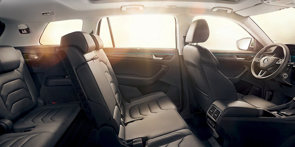 Kodiaq車身長4,697mm,但可提供遠優於SUV級距平均的室內空間。前後座...