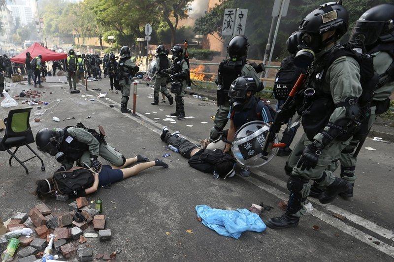 攝於11月18日,香港。 圖/美聯社