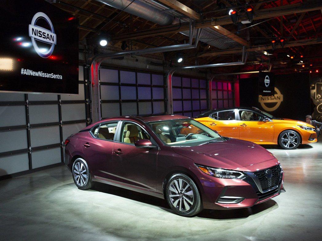 美規2020 Nissan Sentra。 摘自Nissan