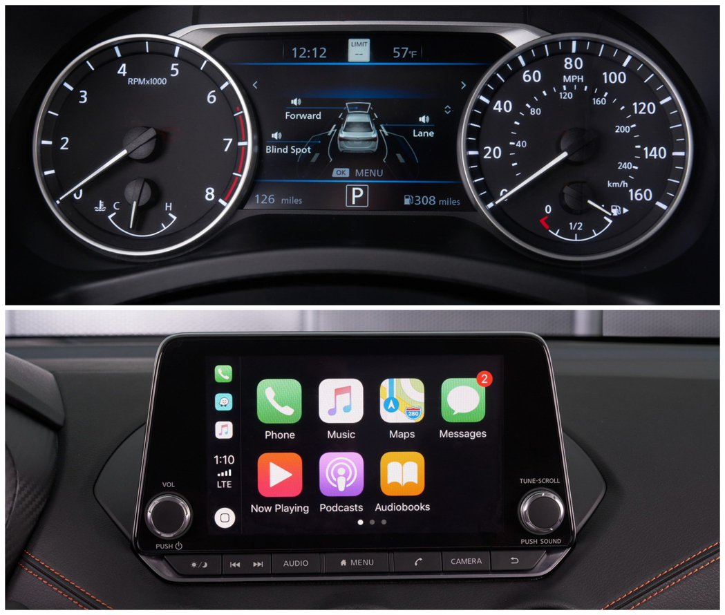 7吋的儀錶板資訊顯示幕搭配支援Apple CarPlay和Android Aut...