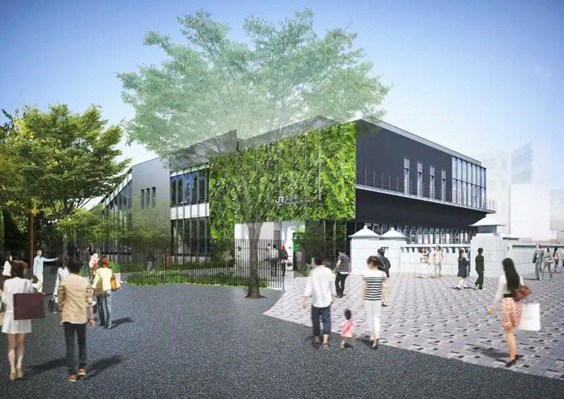 圖為JR東日本的原宿車站新站示意圖,預計在2020年3月21日啟用。 圖/JR東...
