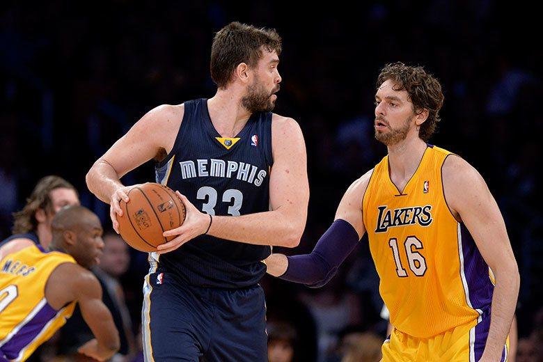小加索(左)沒有因為加索(右)在NBA的成就而受到青睞,不過至少加索的母隊灰熊還...
