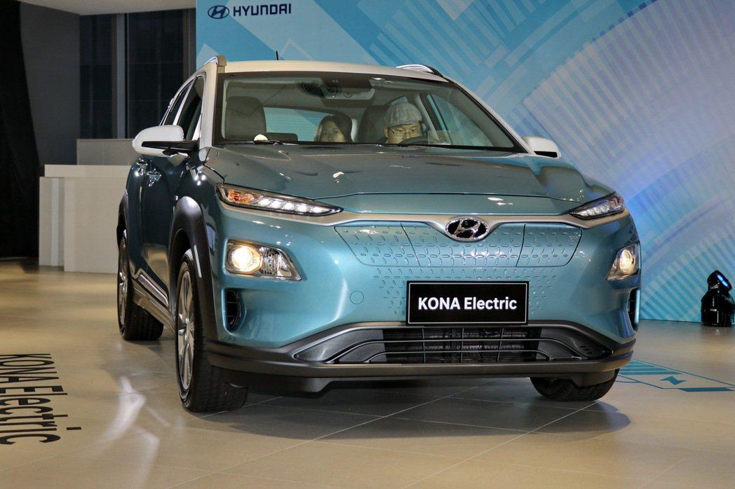 台北車展將展出全新KONA Electric。 記者陳威任/攝影