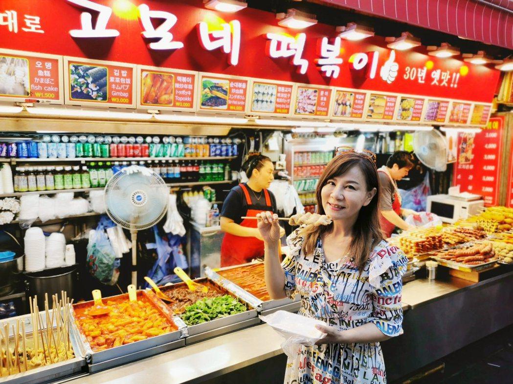 龍千玉首次前往韓國血拚兼旅行。圖/豪記提供