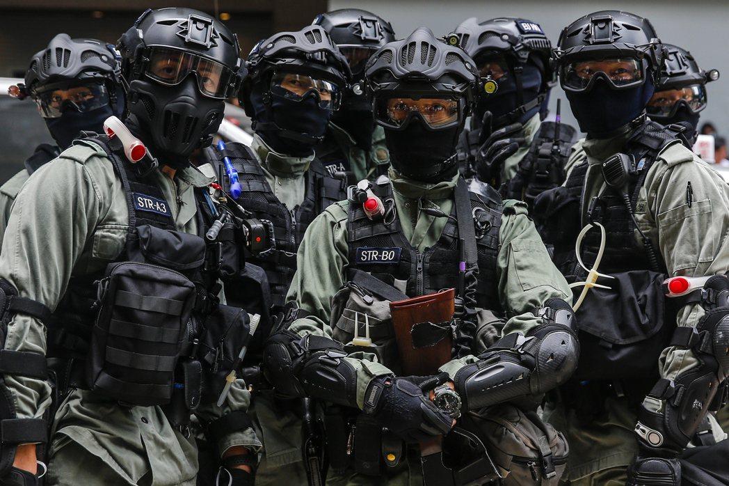 美國參院通過法案,禁止供應特定裝備給香港警方。歐新社
