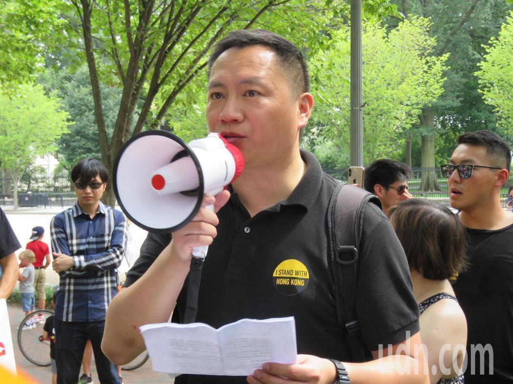 中國大陸民運人士王丹。圖/聯合報系資料照片