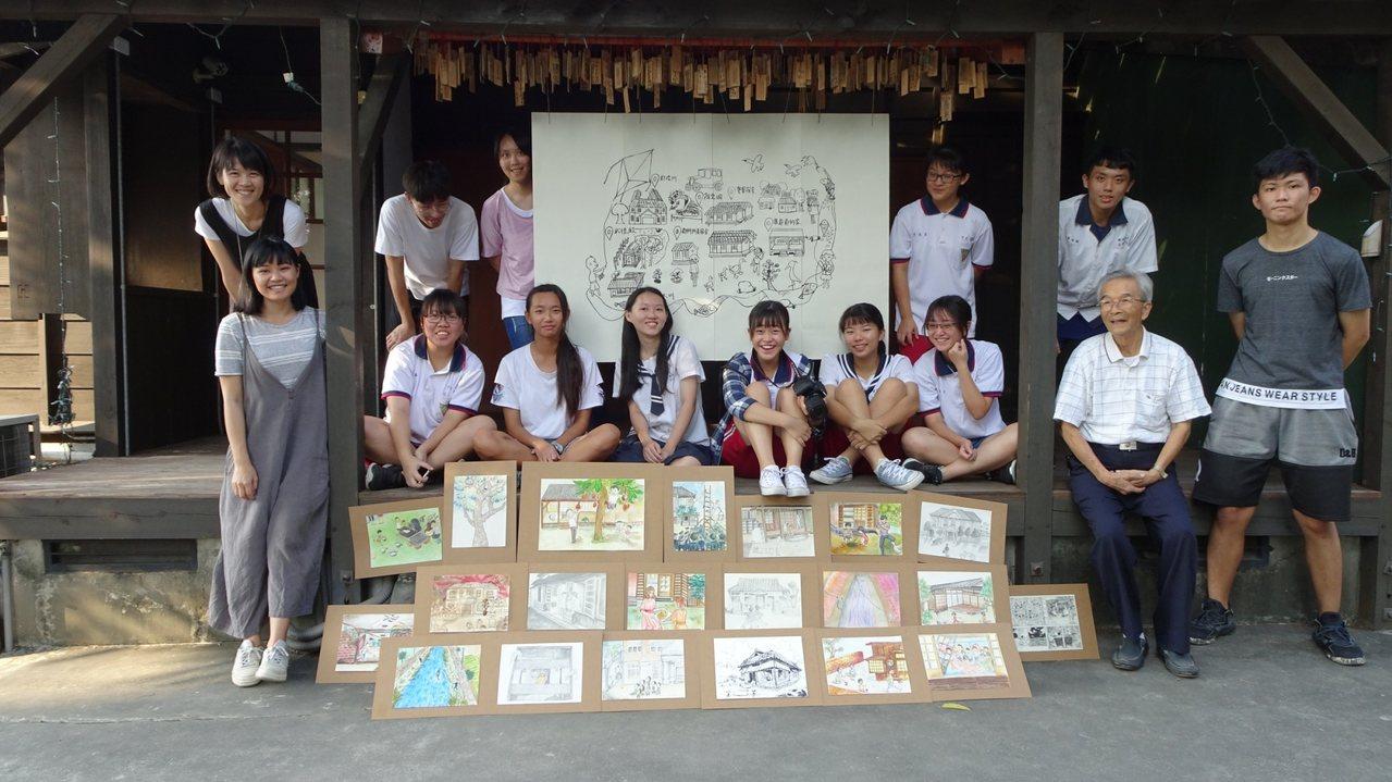 國立新化高中師生以圖像回憶在地生活文化。圖/新化高中提供