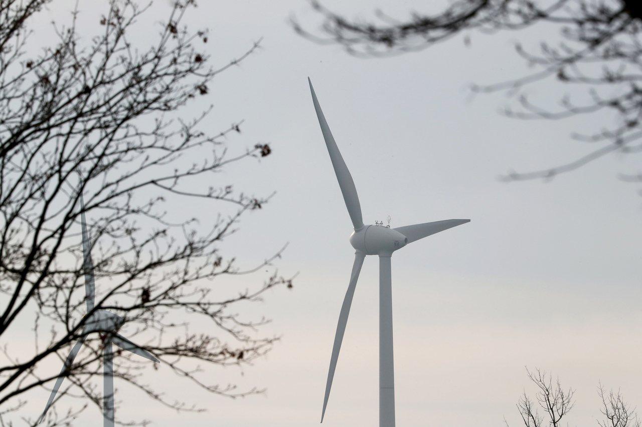 氣候變遷導致風力增強,有助於風力發電。歐新社