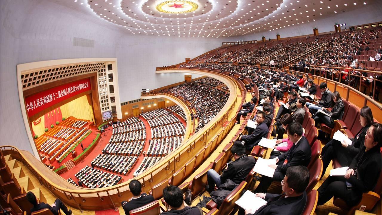 大陸全國人大譴責美方粗暴干涉內政。取自香港01
