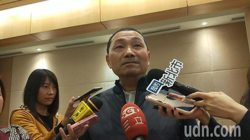 新北市長侯友宜說明他向中央感謝的緣由,不希望市政努力成為選舉口水戰議題。記者施鴻基/攝影