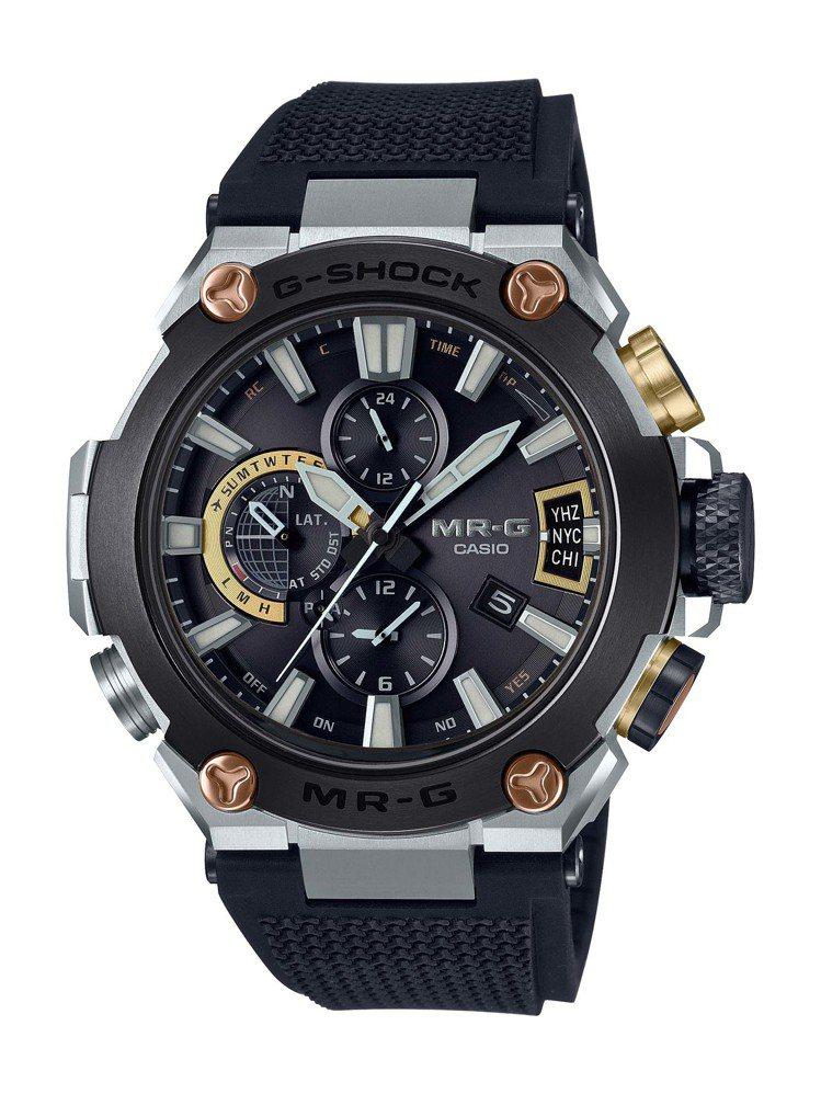 G-Shock MRG-G2000R-1A腕表,鈦金屬表殼,約90,000元。圖...