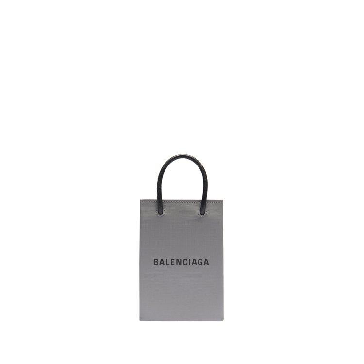 經典購物袋手機包29,900元。圖/BALENCIAGA提供