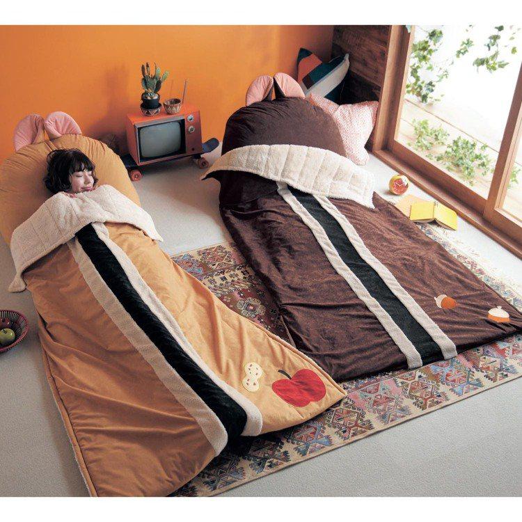 奇奇蒂蒂的懶人椅與睡袋。圖/摘自bellemaison網站