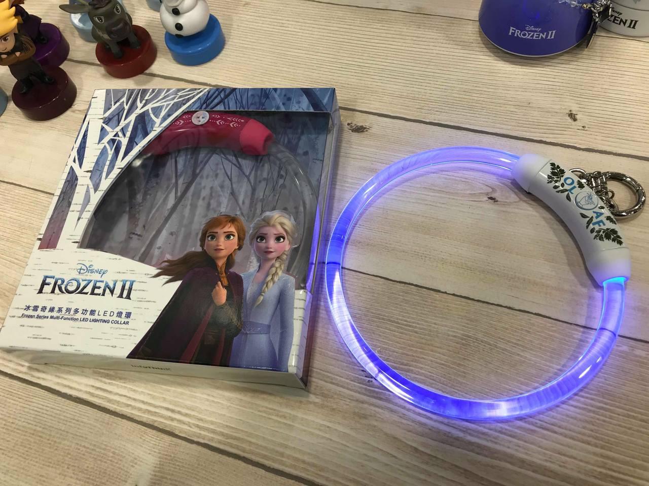冰雪奇緣系列LED燈環,共有雪寶、安娜兩款,售價皆為399元,7-ELEVEN於...