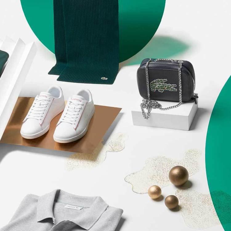 LACOSTE在耶誕節商品以鱷中鱷的logo堆疊作為商品話題。圖/LACOSTE...