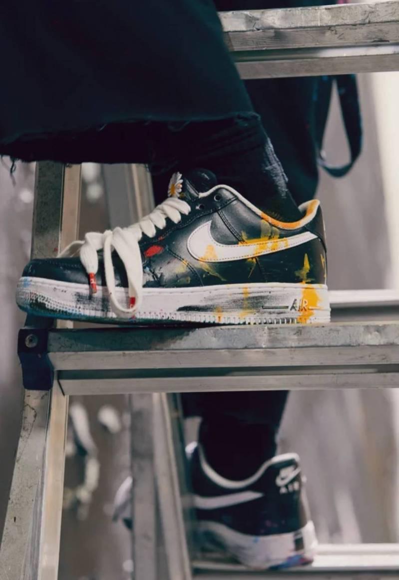 權志龍主理品牌PEACEMINUSONE與Nike聯名推出的Air Force 1「Para-noise」。圖/摘自nike.com 官網