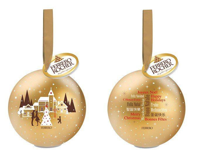 可當做耶誕吊飾的義大利金莎巧克力T3耶誕裝,售價109元。圖/7-ELEVEN提...