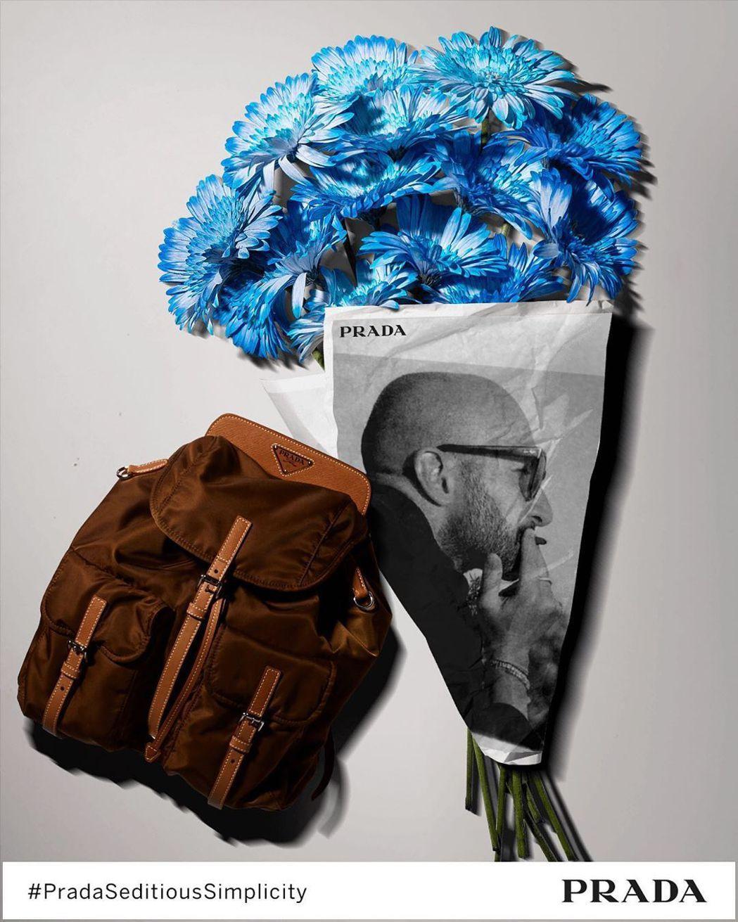 PRADA特別打造了數位互動體驗的遊戲,可以製作印有自己肖像的花束與包款美圖。圖...