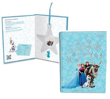 冰雪奇緣II彩色精鑄銀幣外包裝以藍色系為主,可吊掛於耶誕樹上,成為節慶裝飾。圖/台灣銀行提供