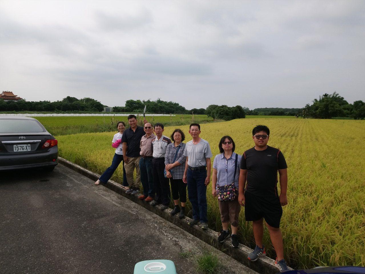 中華食品雙盲檢驗暨認證學會等單位舉辦第一屆的自然農法優質稻米競賽,前往田間採樣送...
