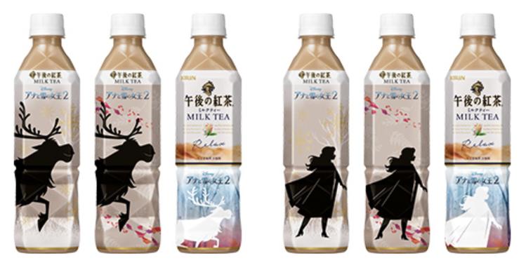 午後紅茶推出限定款「奶茶X冰雪奇緣」。圖/取自Kirin官網