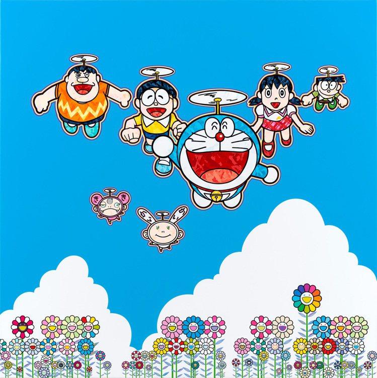 「Superflat Doraemon」展將展出具有村上隆特色的哆拉a夢作品。©...