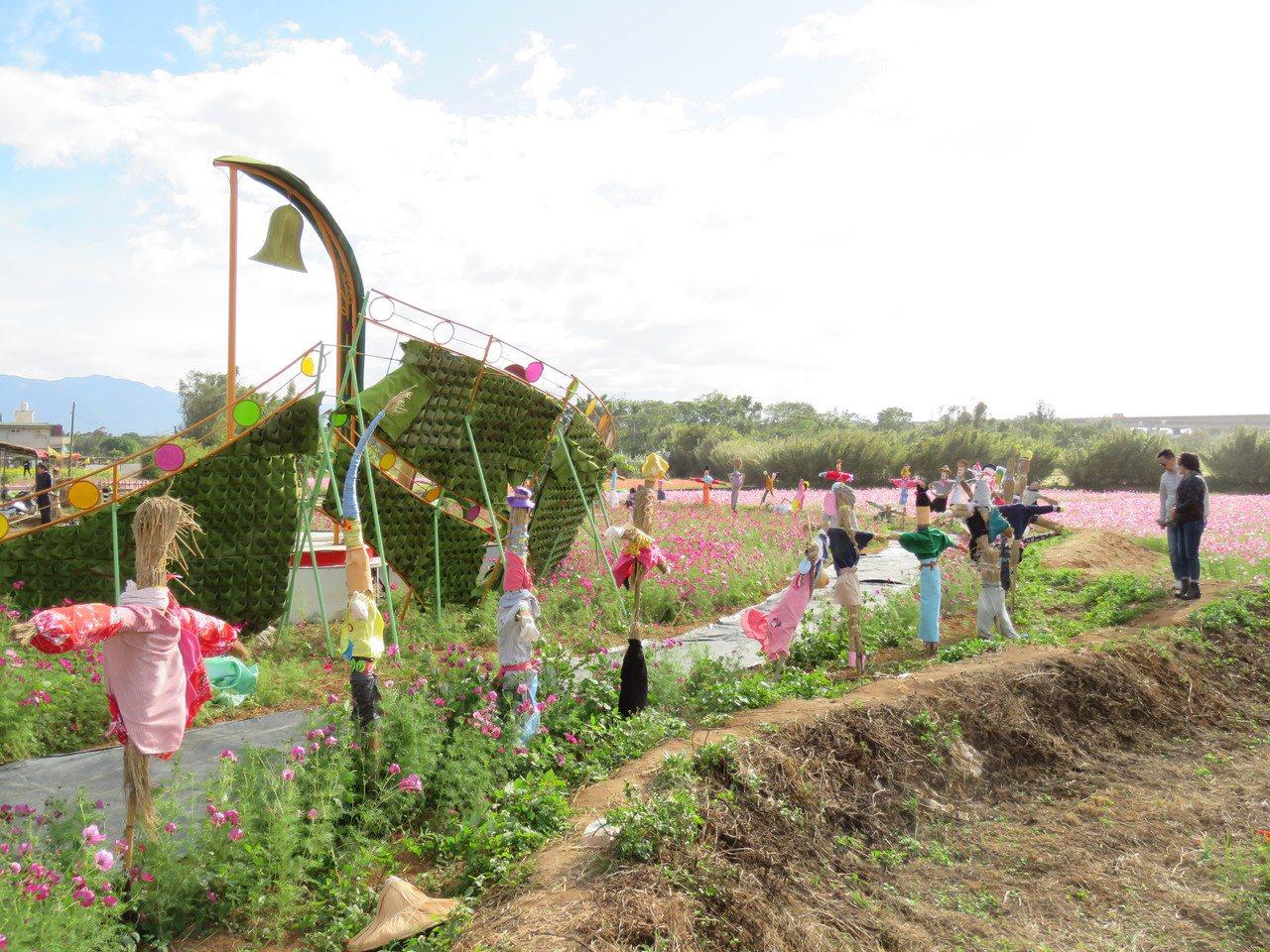 2019平鎮花彩節,23日起到12月1日舉行,已陸續有遊客提早前來賞花。記者張弘...