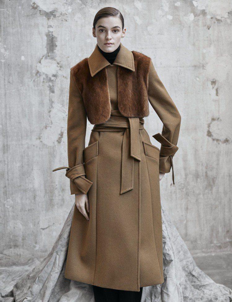 Max Mara Atelier的秋冬系列大衣奢華優雅。圖/Max Mara提供