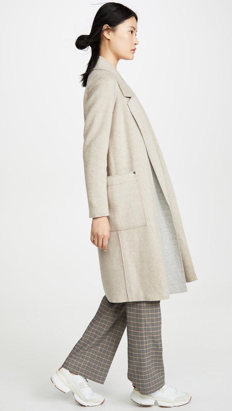 SOSKEN Bella大衣,售價498美元、約合台幣15,314元。圖/sho...