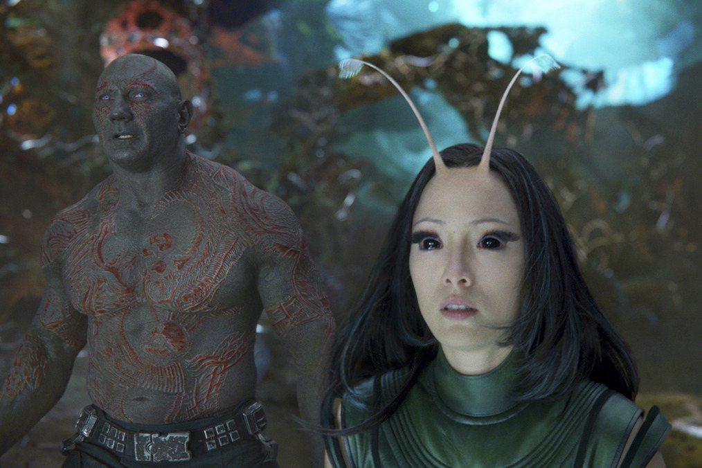 龐克萊門捷夫在「星際異攻隊」的續集中扮演「螳螂女」,讓觀眾留下印象。圖/路透資料