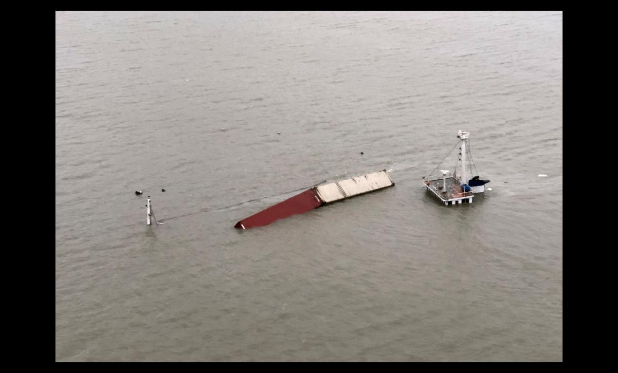 台灣籍雜貨船「萇薪輪」20日晚間21時許,在閩江口水域發生碰撞事故後沉沒。(中新...