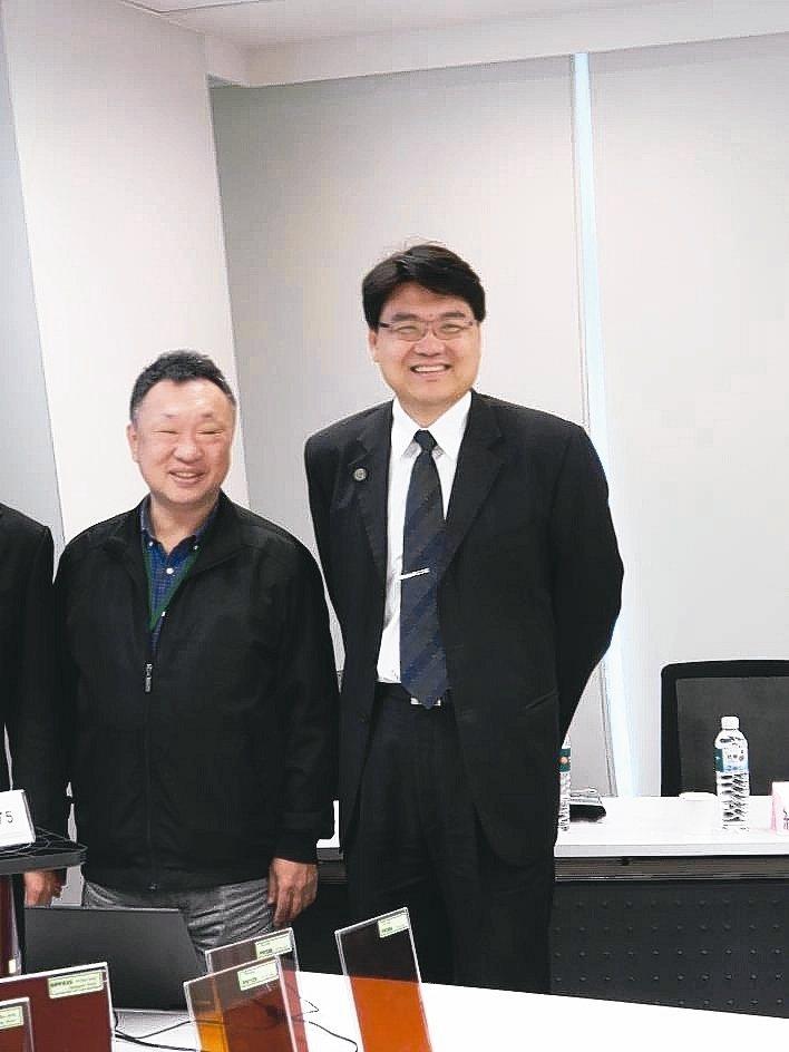 達勝科技董事長孫德崢(左)、總經理白宗城。 翁永全/攝影