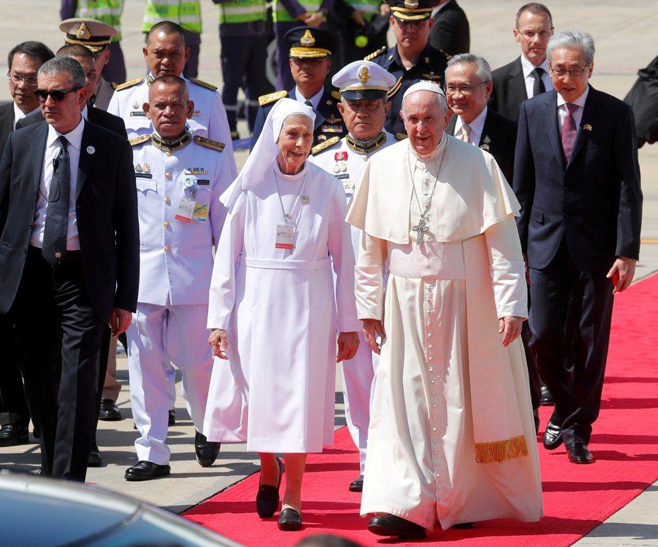 教宗亞洲行首飛曼谷見泰王。 路透社