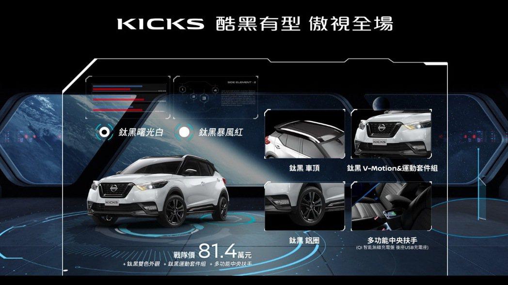雙車色分別為鈦黑曙光白及鈦黑暴風紅等兩種車色。 圖/摘自Nissan官網