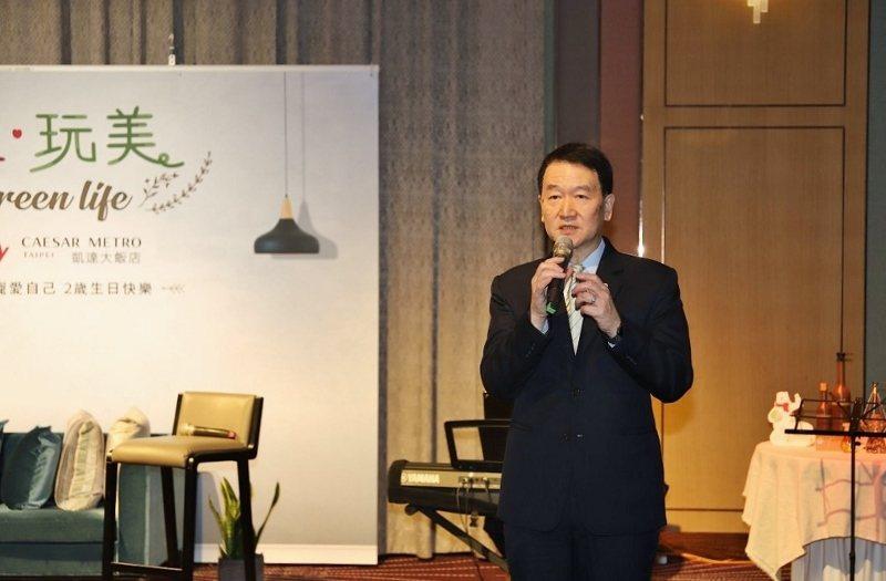 凱達大飯店總經理皮金營與媒體餐敘,說明開幕兩年的凱達住房率一度達九成的好成績。 ...