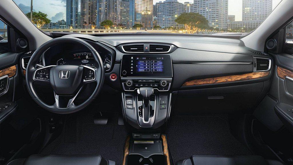 美規小改款Honda CR-V針對細節調整,自EX車型起配置7吋多功能顯示螢幕,...