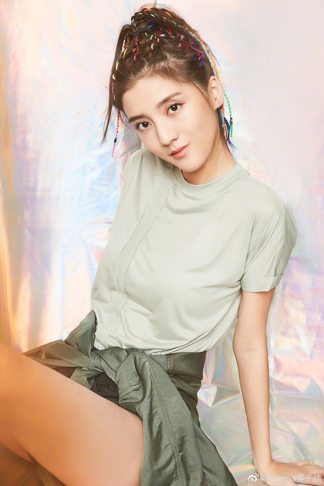 香港女星吳千語。圖/擷自微博